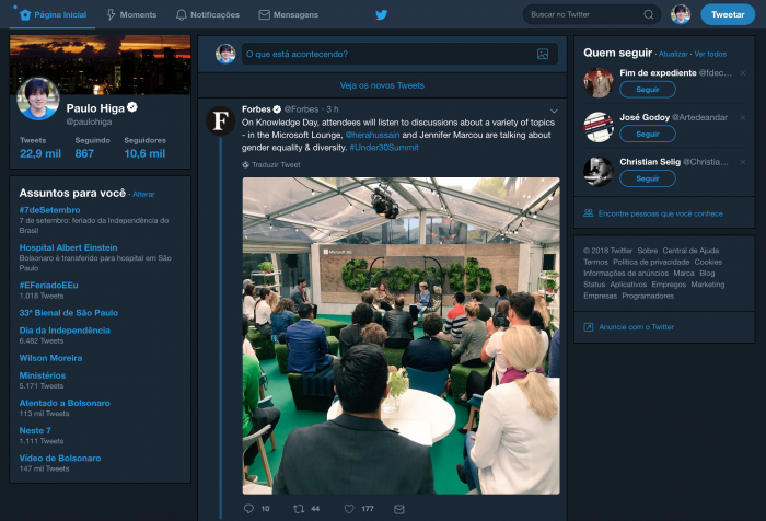 Twitter is testing a new web interface with saved items, night mode and data saving 2