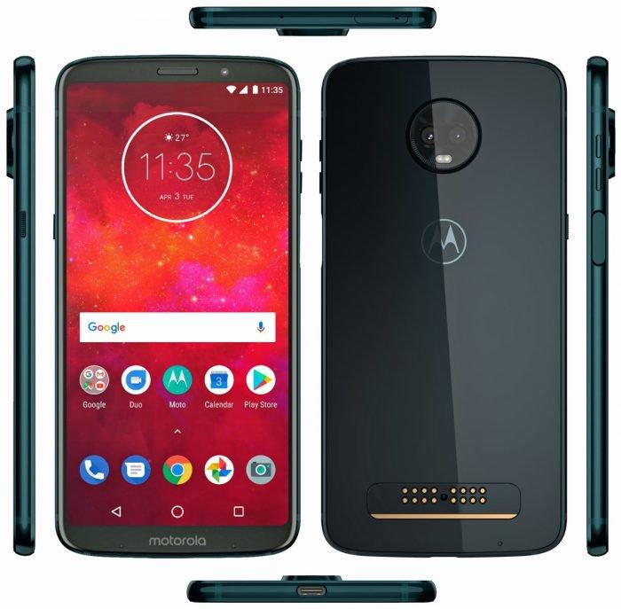 Motorola Moto Z3 Play tiene lector biométrico lateral y no tiene conector para auriculares