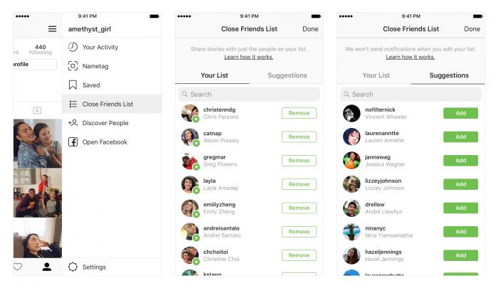 Instagram te permite compartir historias solo con mejores amigos 2