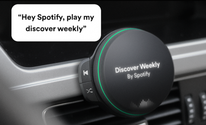 Spotify prepara altavoz para automóvil controlado por voz 1