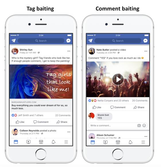 Facebook luchará contra las publicaciones que le pidan que le guste, vote o etiquete amigos 3