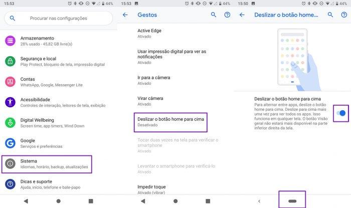 Cómo habilitar y usar la navegación por gestos en Android 9 Pie 2