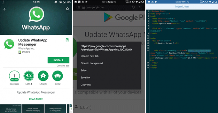 Un WhatsApp falso se ha descargado más de 1 millón de veces en Google Play. 2