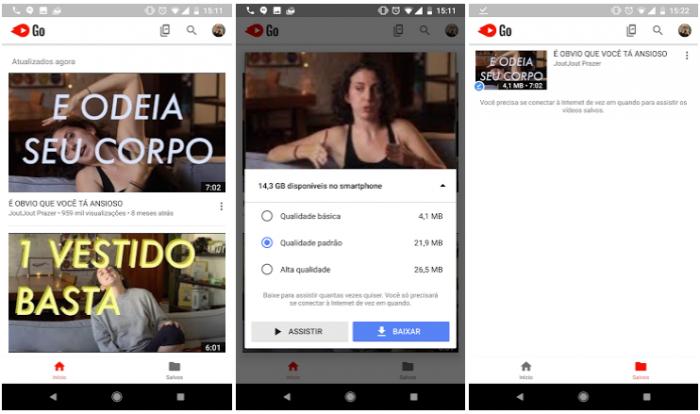 YouTube Go te permite guardar videos sin conexión en Brasil 1
