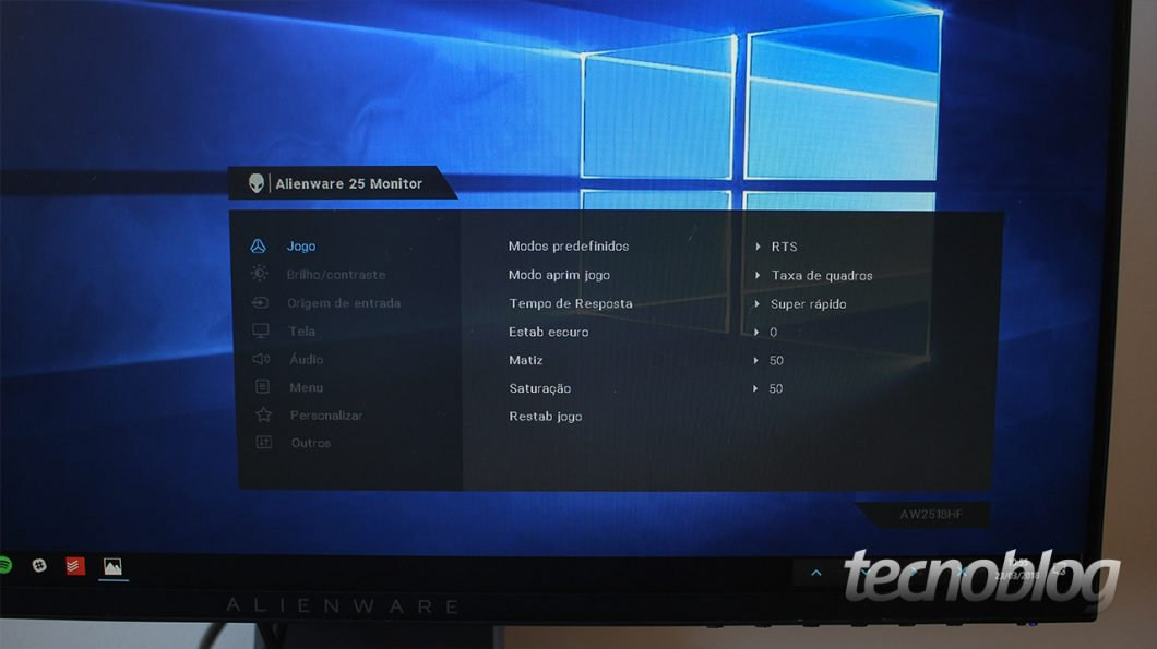 Monitor de jugador Alienware AW2518HF: Mundo a 240 Hz 12
