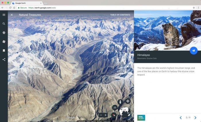 Nuevo Google Earth trae una interfaz renovada y visitas guiadas 1