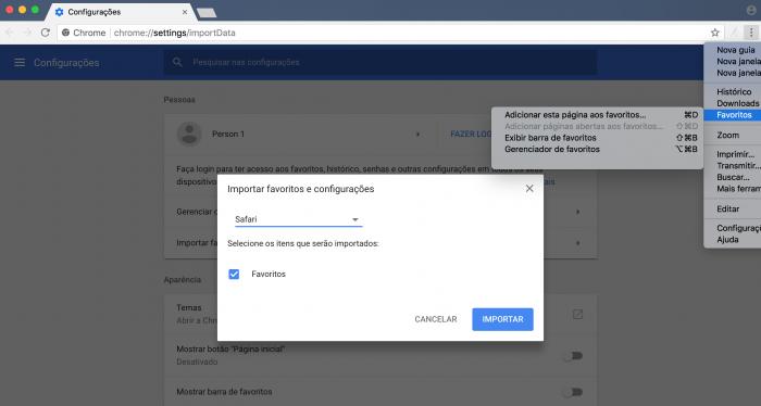 Importar y exportar marcadores en Google Chrome 2