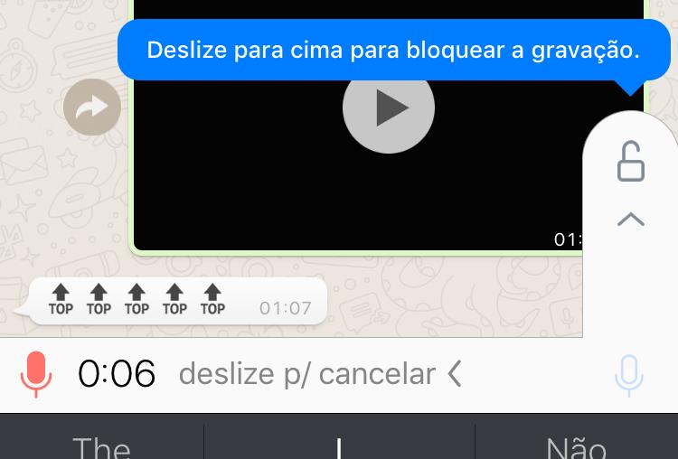 WhatsApp tiene la función de grabar mensajes de voz largos en iOS