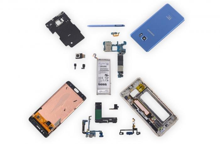 Desmontaje de Galaxy Note Fan Edition revela detalles de la batería 1