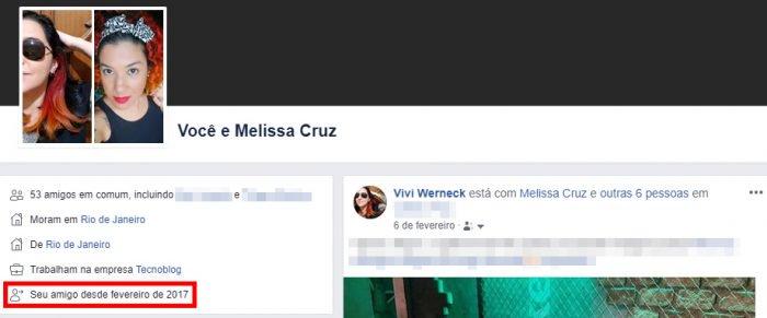 Cómo ver el tiempo de amistad de Facebook 3