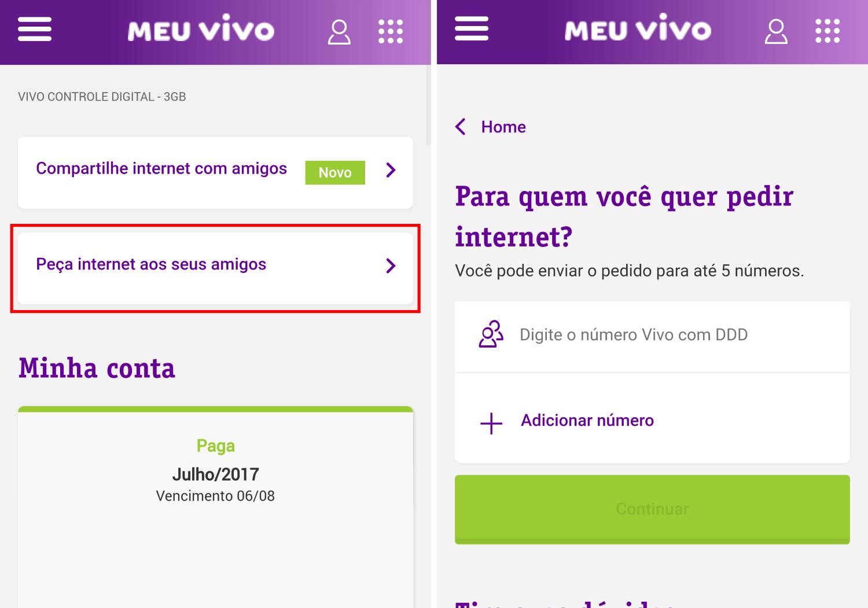 Vivo permite compartir franquicias de internet entre clientes previos y de control 3