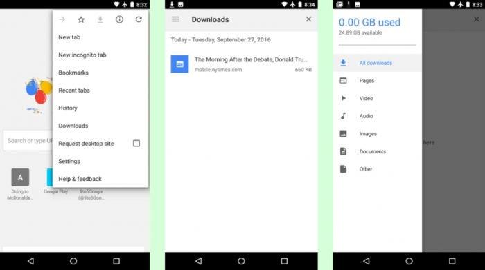 Puede descargar páginas completas para acceder sin conexión en el nuevo Chrome para Android 2