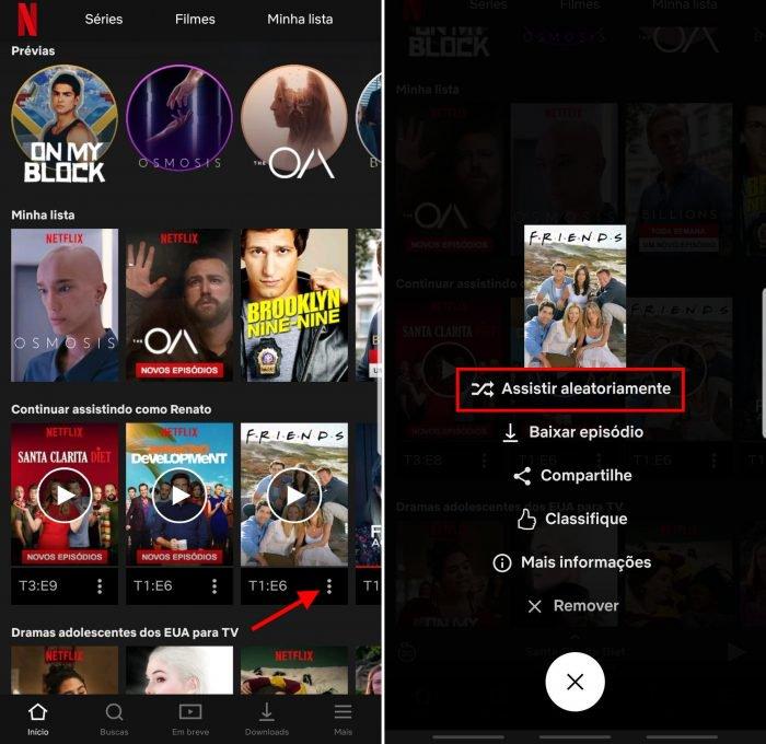 Función de pruebas de Netflix que reproduce episodios aleatorios de una serie 2