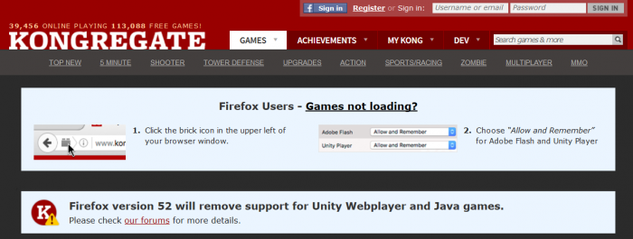 Firefox abandona los complementos de Java y Unity, al igual que Chrome 2