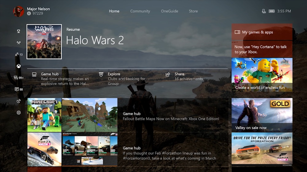 Xbox One se vuelve más rápido y obtiene transmisión en vivo nativa con Creators Update 1