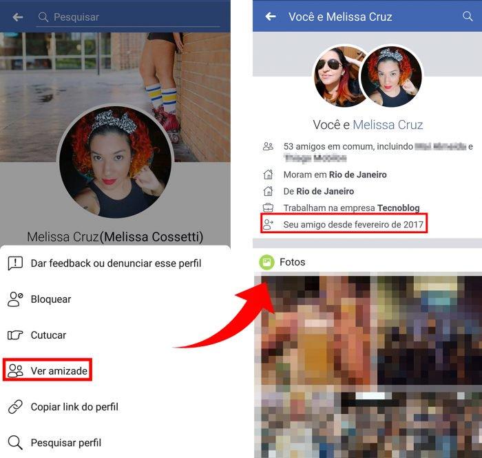 Cómo ver el tiempo de amistad de Facebook 2