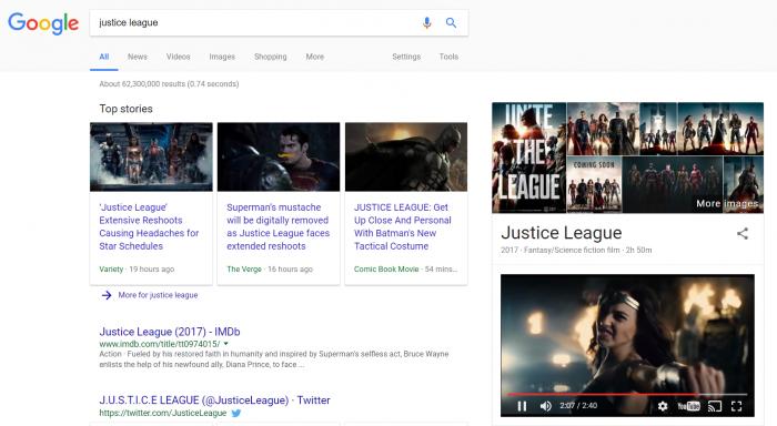 Google prueba videos que tocan automáticamente los resultados de búsqueda 1
